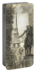 Paul Revere Rides Sketch Portable Battery Charger