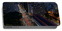Paulista Avenue And Masp At Dusk - Sao Paulo - Brazil Portable Battery Charger