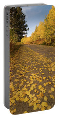 Portable Battery Charger featuring the photograph Paved In Gold by Steve Stuller
