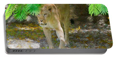 Portable Battery Charger featuring the painting Paw Power by Judy Kay