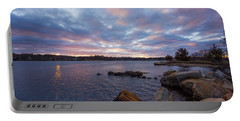 Pawcatuck River Sunrise Portable Battery Charger