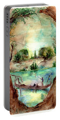 Paysage With A Boat Portable Battery Charger