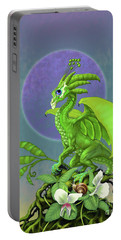Pea Pod Dragon Portable Battery Charger by Stanley Morrison