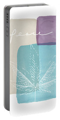 Peace Cannabis Leaf Watercolor- Art By Linda Woods Portable Battery Charger by Linda Woods