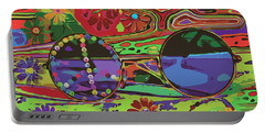 Portable Battery Charger featuring the digital art Peace Art by Eleni Mac Synodinos