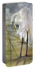 Portable Battery Charger featuring the painting Peace In The Midst Of The Storm by Phyllis Beiser