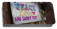 Peace Love And Sandy Feet Portable Battery Charger