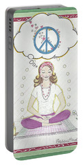 Peace Meditation Portable Battery Charger