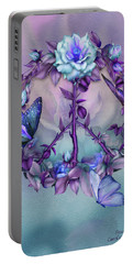 Peace Rose - Blue Portable Battery Charger