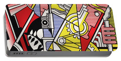 Peace Through Chemistry I - Roy Lichtenstein Portable Battery Charger