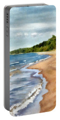 Peaceful Beach At Pier Cove Ll Portable Battery Charger
