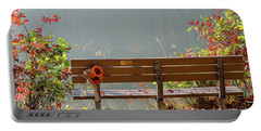 Peaceful Bench Portable Battery Charger by George Randy Bass