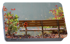 Portable Battery Charger featuring the photograph Peaceful Bench by George Randy Bass