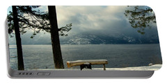 Peaceful Bench Portable Battery Charger by Leone Lund