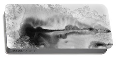 Peaceful Evening - Abstract Ink Rural Landscape Art Portable Battery Charger