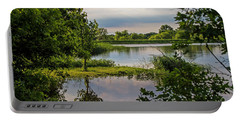 Peaceful Evening Portable Battery Charger by Alana Thrower