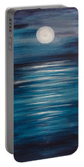 Peaceful Moon At Sea Portable Battery Charger