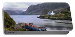 Peaceful Plockton Portable Battery Charger by Jacqi Elmslie