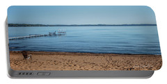 Portable Battery Charger featuring the photograph Grand Traverse Bay Beach-michigan  by Joann Copeland-Paul
