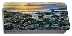Peaceful Sunset At Crystal Cove Portable Battery Charger