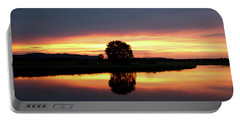 Peaceful Sunset Portable Battery Charger by Inspired Arts