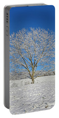 Peaceful Winter Portable Battery Charger by Susan Leggett