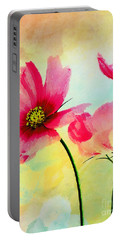 Portable Battery Charger featuring the digital art Peacefulness by Klara Acel