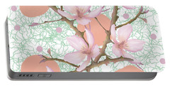Peach Blossom Pattern Portable Battery Charger
