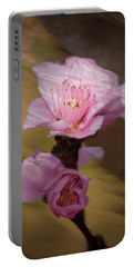 Peach Blossom Through Glass Portable Battery Charger