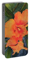 Peach  Blush Orchid Portable Battery Charger