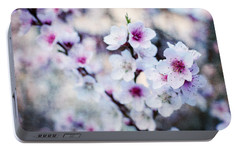 Portable Battery Charger featuring the photograph Peach Flowers by Laura Melis