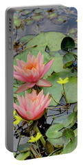 Peach Lily Portable Battery Charger