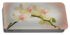 Peach Orchid Spray Portable Battery Charger