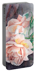Peach Perfect - Painting Portable Battery Charger by Veronica Rickard