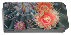 Peach Barrel Cactus Flowers II Portable Battery Charger