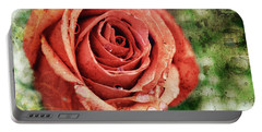 Peach Rose Portable Battery Charger by Sennie Pierson