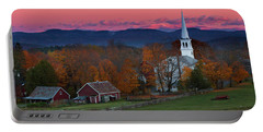 Peacham Village Fall Evening Portable Battery Charger