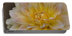 Peaches And Cream Dahlia Portable Battery Charger