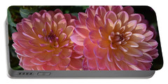 Peachy Dahlias Portable Battery Charger
