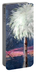 Peachy Horizons Palm Tree Portable Battery Charger
