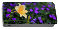 Peachy Purple Portable Battery Charger