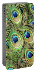 Living Peacock Abstract Portable Battery Charger