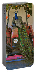 Peacock And His Ride Portable Battery Charger