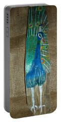 Peacock Portable Battery Charger by Ann Michelle Swadener