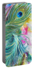 Peacock Feathers Bright Portable Battery Charger