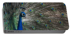 Peacock II Portable Battery Charger by Lisa L Silva