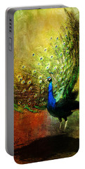 Peacock In Full Color Portable Battery Charger