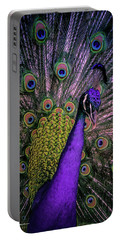 Peacock In Purple Portable Battery Charger