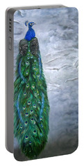 Peacock In Winter Portable Battery Charger