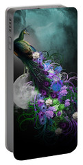 Peacock Of  Flowers Portable Battery Charger